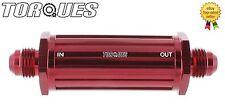 Un -6 (-06 un JIC An06) Rojo Anodizado Billete de línea delgada de Filtro de combustible 30 Micrones