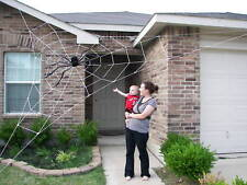 20' Almost GIANT Spider Web Rope Halloween House Prop Yard Prop