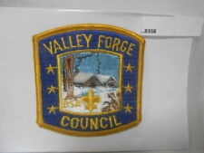 VALLEY FORGE COUNCIL PATCH YELLOW BORDER CABIN SCENE B358