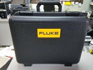 "Fluke Molded Plastic Hard Case 17""-14""-4.5"" O.D. Has custom interior, see pixs"