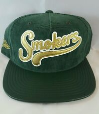Hall of Fame Smokers faux leather bill courdoroy cap Snapback Hat NWOT