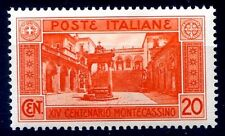 REGNO 1929 - MONTECASSINO   Cent. 20   NUOVO **