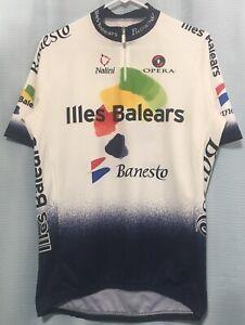 L Vintage 2004 BANESTO ILLES BALEARS Cycling Team Jersey NALINI Italy MOVISTAR