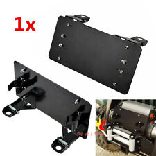 Flip Up Winch License Plate Bracket Holder Cover for Jeep Truck 225mm Mounting