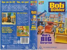 VHS *BOB THE BUILDER - BOB'S BIG SURPRISE* ABC 4 Kids Can we fix it? Yes we can!