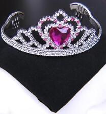 Diadème, couronne argent rose, enfants, princesse, fée 610