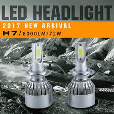 2x 8000LM 72W H7 6000K LED Car Headlights Kit Conversion Beam Bulbs White Lights