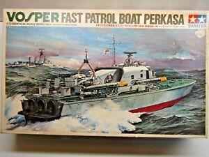 Tamiya 1:72 Vintage Scale Vosper Fast Patrol Boat Perkasa Model Kit - # PT7201