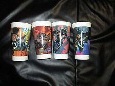 4 BATMAN RETURNS McDonalds Plastic Cups