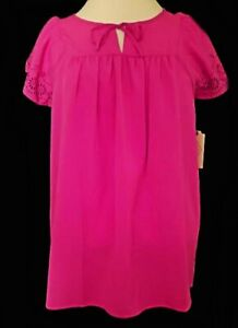 NWT St. John's Bay Crepe Palace Orchid Blouse Top M NEW
