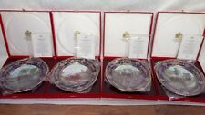 SET OF FOUR SPODE PLATES FROM THE BRITISH STEAM THE YEARS OF GLORY BOXED & CERTS