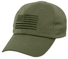 Tactical Cap Operator Hat Ballcap Olive Drab USA US Flag Rothco 4633