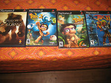 4 playstion 2 games Jak II, Tak power of juju and staff of dreams, shadow of col