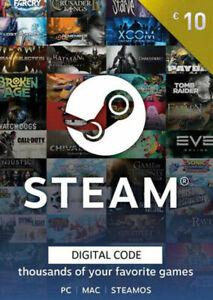 Steam Game Card EUR 10 Steam Guthaben 10 € Digital EU CODE - Online Lieferung/DE