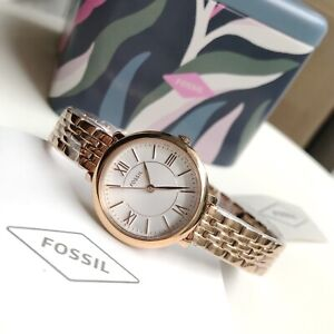 Fossil Watch * ES3799 Jacqueline Mini Rose Gold Steel Women Ivanandsophia