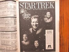 Dec-1992 N Y Times TV Mag(STAR TREK:ANY GENERATION/RYAN O'NEAL/KATHARINE HEPBURN