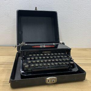 Antique Corona Standard Floating Shift Manual Portable Typewriter Near Mint EUC