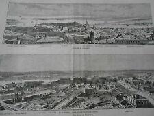 Engraving 1874 - the ruins of Sébastopol