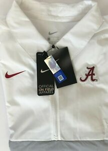 Nike Alabama Crimson Tide Football On Field Windbreaker Jacket CQ5093-100 Size S