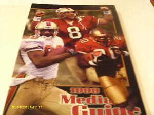 San Francisco 49ers 1999 Media Guide Steve Mariucci Steve Young Jerry Rice