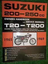 SUZUKI 250cc T20 X-6 HUSTLER +200cc T200 X-5 INVADER +STING SERVICE MANUAL 65-69