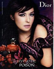 Publicité Advertising 117  2009   Dior parfum Hypnotic Poison & Monica Belluccci