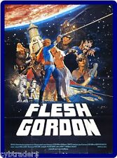 Flesh Gordon 1970's Adult  Refrigerator / Tool Box Magnet Man Cave