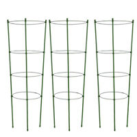 Climbing Plant Support Cage Garden Trellis Flowers Tomato Stand with 3 Rings HEA
