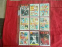 PETE ROSE-1986 TOPPS(9 CARD SET)1-7/206/741 NM CONDITION