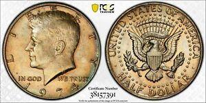 1974 KENNEDY HALF DOLLAR PCGS MS63 BU SELECT UNC CHOICE TONED PRIME GEM (MR)