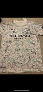 Original Hand Signed 20/21 Man City 3rd Shirt By Sterling, Aguero, CHAMPIONS!
