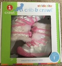 NIB Stride Rite Crib & Crawl Step 1 Booties 0-3 Months Shoes Size 1