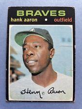 New listing 1971 Topps Hank Aaron 400 - Atlanta Braves - HOF