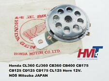 Honda CL360 CJ360 CB360 CB400 CB175 CB125 CD125 CD175 CL125 Horn 12V NOS MITSUBA