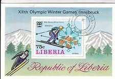 Liberia  XII Olympic 1976 Winter Games Innsbruck, Souvenir Sheet -  WW 7323