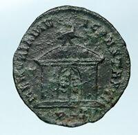 DIVUS CONSTANTIUS I CHLORUS Authentic Ancient 307AD Roman Coin TEMPLE i83721