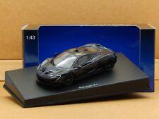 1/43 McLaren P1 2013 Metallic Sapphire Black AutoArt Diecast Model 56014