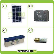 Kit Votivo pannello solare 5W 12V Batteria UL 2.4Ah lampada led 0.3W cappelle