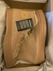 Converse Chuck Taylor 70 Shearling Lined Iced Coffee/Wheat 166318C Size 10