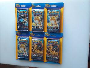 (6) Pokemon XY Blister 2-packs (1 evolutions + 1 Random Pack + GX or EX Card