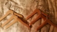 """SIX-6Doll-Dog? 6""""Wood Hangers-Will fit 16""""Sz Dolls-Any Girl in America-Loves!"""