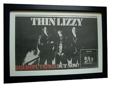 THIN LIZZY+Bad Reputation+POSTER+AD+RARE ORIGINAL 1977+FRAMED+FAST GLOBAL SHIP