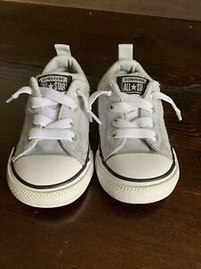 CONVERSE ALL STAR Shoes Size 6 Infant TODDLER Lt Gray Kids Preowned (E)