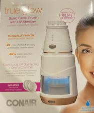 True Glow by Conair - Sonic Facial Brush w/UV Sterilizer & 2 Cleansing Brushes
