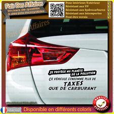 Sticker Autocollant humour trop taxe pollution Ecologie carburant gasoil essence