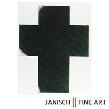 """ARNULF RAINER - Radierung """"Kreuz Tiefgrün"""", handsigniert, Auflage 30, 2009!"""
