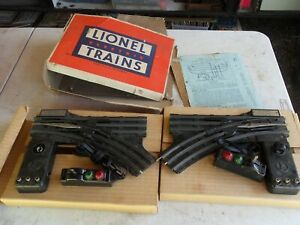 Lionel Pair of No. 022 Remote Control O-Gauge Switches, Box