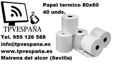 CAJA DE ROLLOS PAPEL TERMICO 80X60 40 UNIDADES