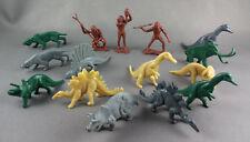 15 1980s Dinosaurs & Cavemen DFC Prehistoric Play Set  Plastic Vintage Lot