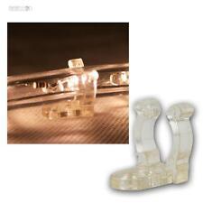 25er Pack Halteclips Schraubloch für Lichtschlauch, Halterung f Lichterschlauch